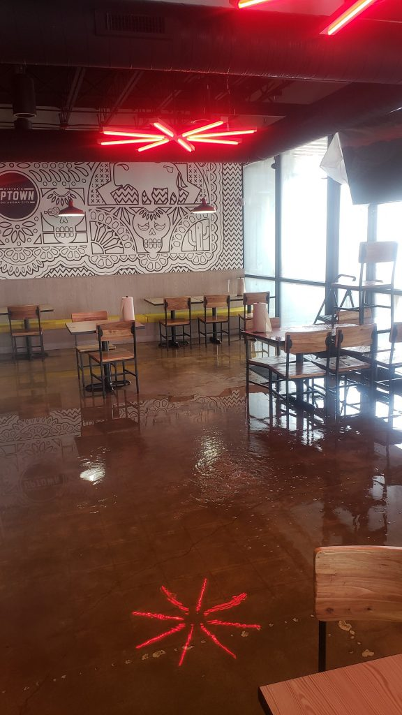 Cantina Floor Flooded