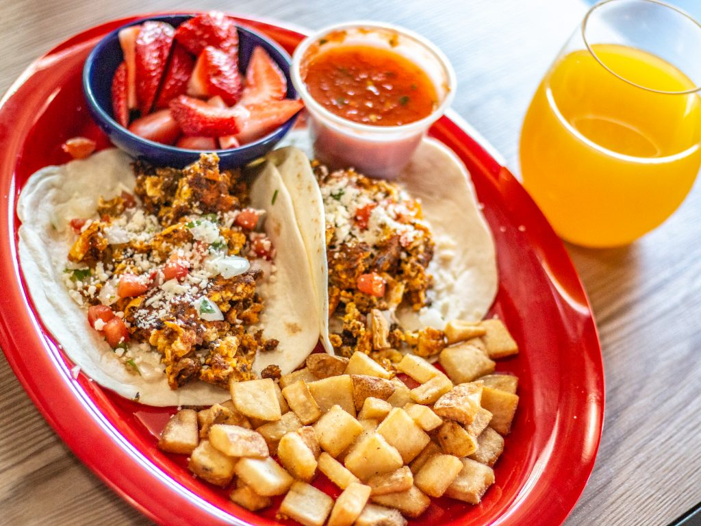 Brunch at Ted's Tacos and Cantina Chorizo Breakfast tacos