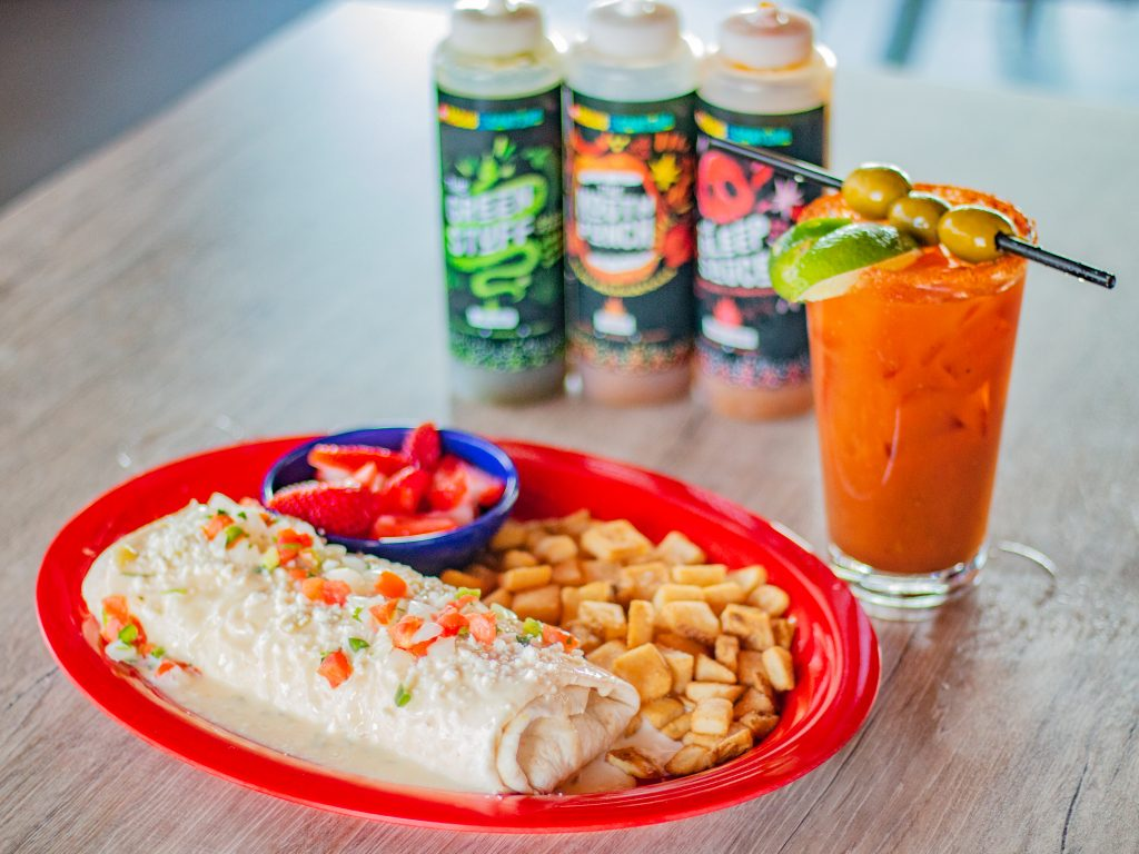 Brunch at Ted's Tacos and Cantina Smothered Burrito